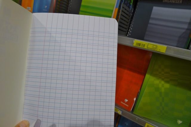 French school supplies music notebook