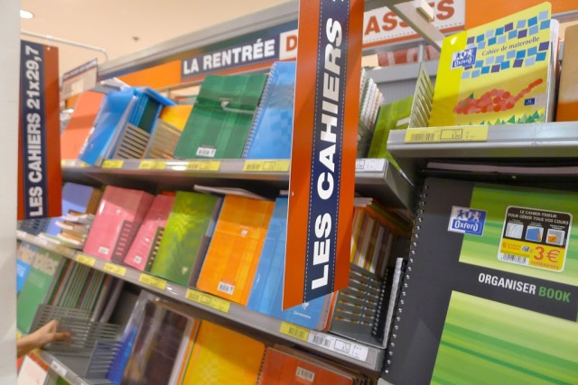 French school supplies notebooks