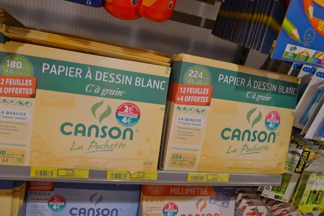 French school supplies Papier Canson