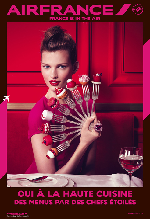 Indulge in Haute Cuisine. Refined menus by French chefs. Copyright Air France 2014