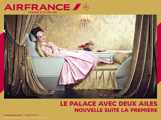 """The soaring palace. New First Class suite."" Copyright Air France, 2014"