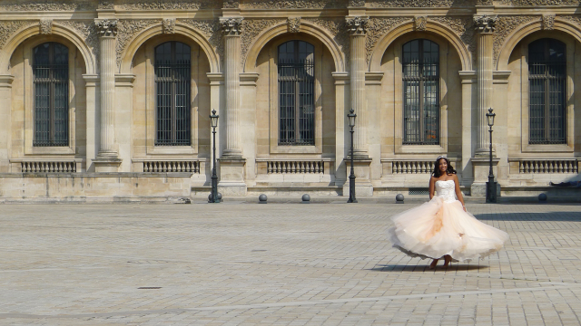Photo shoot au Louvre