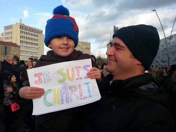 Enfant marche republicaine