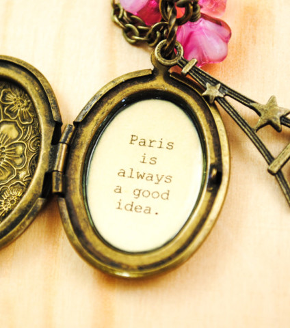 Paris Quote Locket