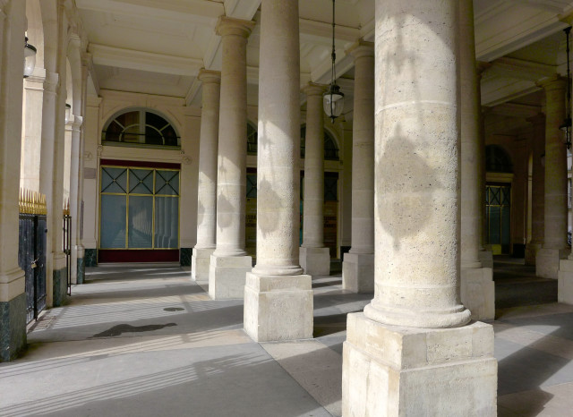 Sun and shadows at le Palais Royal, 1st arrondissement